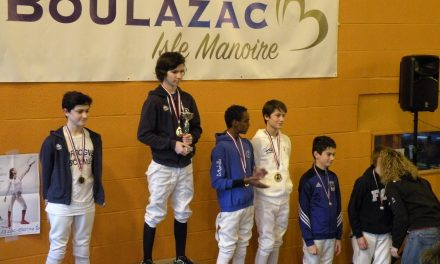 Circuit de zone à Boulazac : 4 podiums à l'épée!