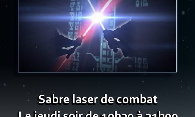 Section sabre laser de combat